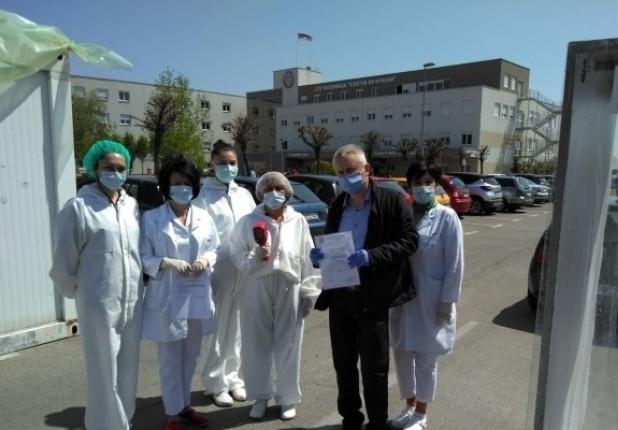 Humanost u vrijeme korone – Opštoj bolnici u Bijeljini Partner MKF donirao termovizijsku kameru