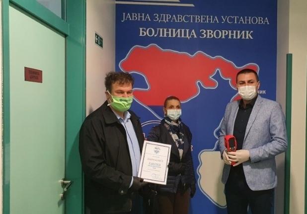 Humanost u vrijeme korone – Partner MKF uručio termovizijsku kameru JZU Bolnica Zvornik
