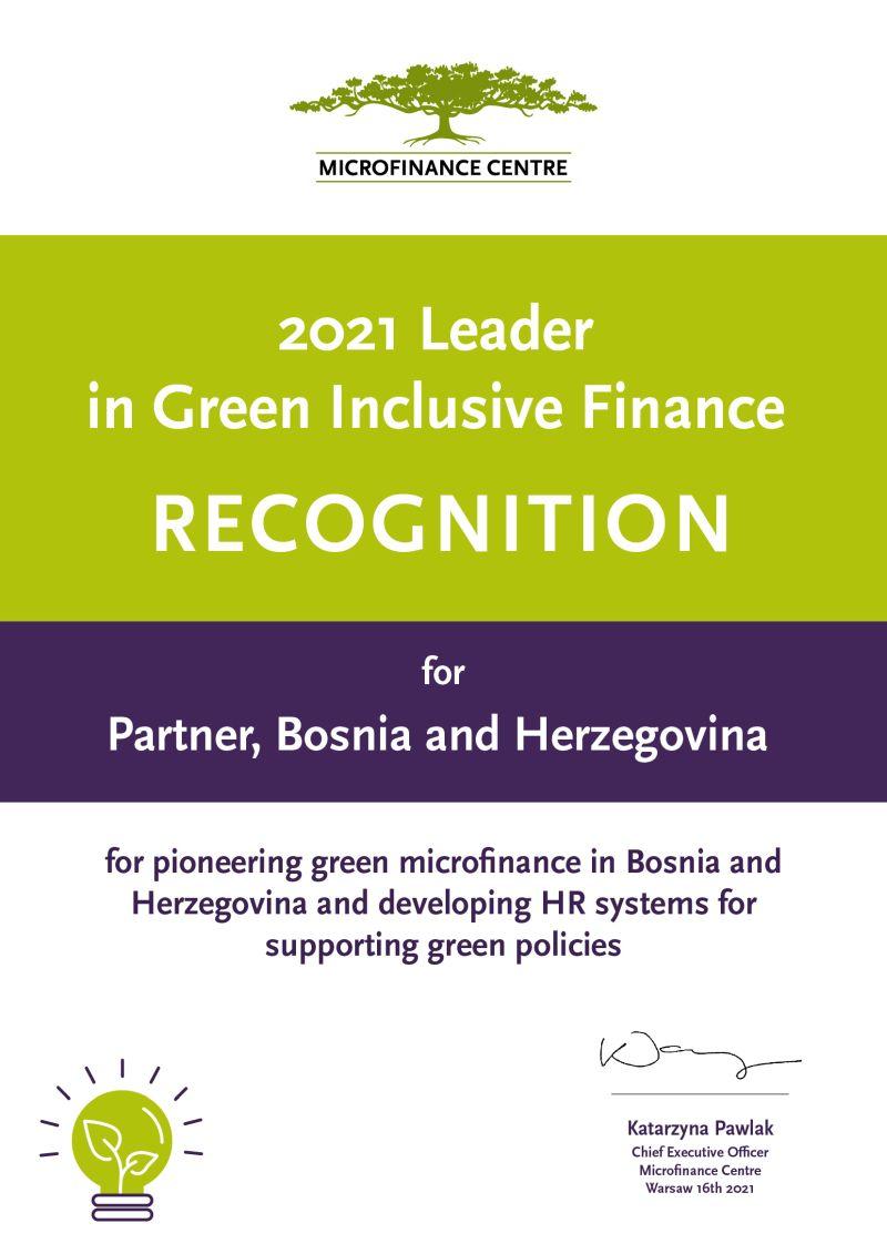 Na 23. MFC konferenciji Partneru MKF uručena nagrada za promociju eko/zelenog mikrofinansiranja